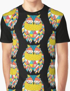 Aztec Owl Illustration Graphic T-Shirt