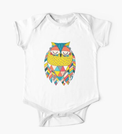 Aztec Owl Illustration One Piece - Short Sleeve