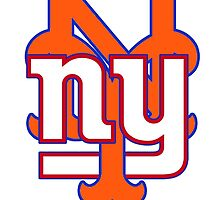 New york Mets Giants mash up by American Artist