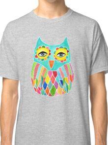 Watercolour Rainbow Owl Classic T-Shirt