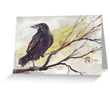 Crow on a bough - Coco Greeting Card