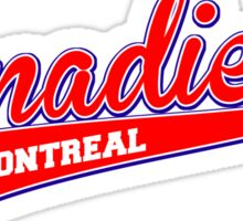 Canadiens red script Sticker