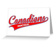 Canadiens red script Greeting Card