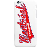 Montreal red script iPhone Case/Skin