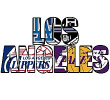 Los Angeles sport team mash ups by American Artist
