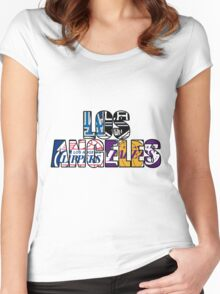 Los Angeles sport team mash ups Women's Fitted Scoop T-Shirt