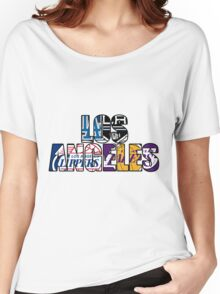 Los Angeles sport team mash ups Women's Relaxed Fit T-Shirt