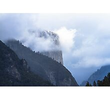 El Capitan in Fog   Yosemite Photographic Print