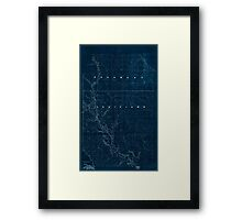 Civil War Maps 2120 Map of the Red River campaign March 10-May 22 1864 Inverted Framed Print