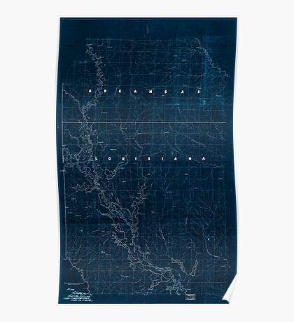 Civil War Maps 2120 Map of the Red River campaign March 10-May 22 1864 Inverted Poster