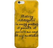 Hamilton - Watercolor Quote iPhone Case/Skin