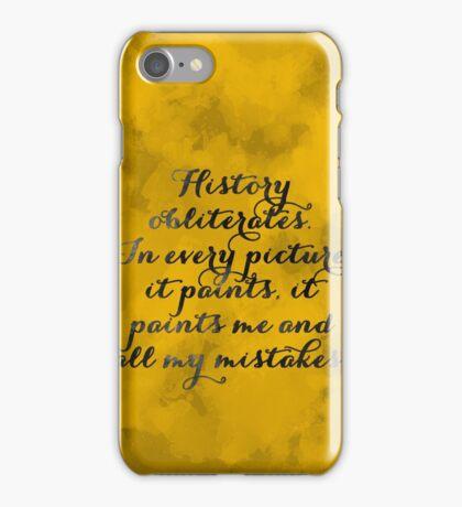 Hamilton - Watercolor Quote iPhone Case/Skin