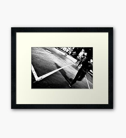 One Night on Rue Ste. Catherine Framed Print