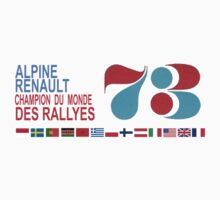 ALPINE RENAULT - Champion du Monde 1973 by recess