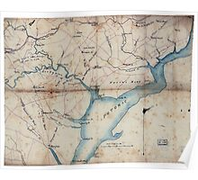 Civil War Maps 2030 Map of part of Fairfax and Prince William Counties Virginia Poster