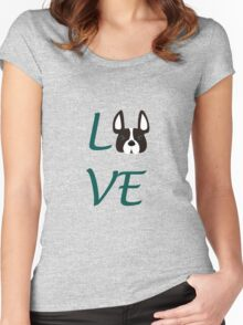LOVE French Bulldog!  Women's Fitted Scoop T-Shirt