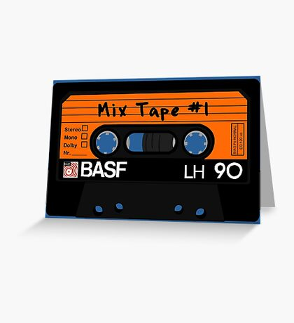 Cassette Mix tape Greeting Card