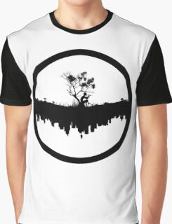 Urban Faun - Black on White Graphic T-Shirt