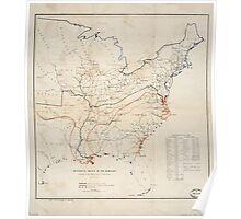 Civil War Maps 0497 Historical sketch of the Rebellion United States Poster