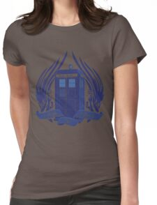 Doctor Who - Angels have the Phone Box Womens Fitted T-Shirt