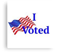 I voted Canvas Print