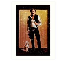 Ron Burgundy Han Solo Art Print