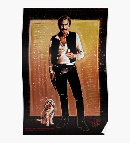 Ron Burgundy Han Solo Poster