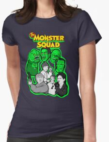 monster squad character collage Womens Fitted T-Shirt