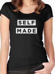 Self Made - White Women's Fitted Scoop T-Shirt