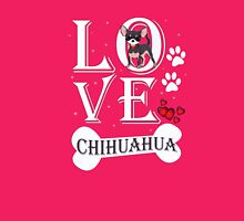 Love Chihuahua Womens Fitted T-Shirt