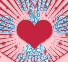 Valentine's damask Sticker