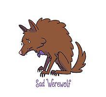 Sad Werewolf Photographic Print