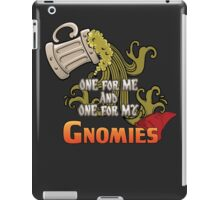 D&D TEE - ONE FOR MY GNOMIES iPad Case/Skin