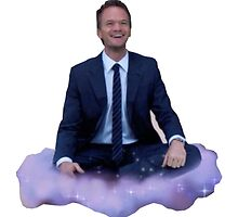 barney floating on a cloud by michaelcera