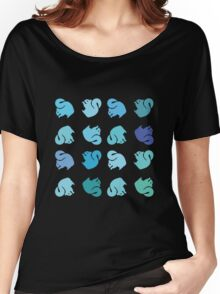 Blue Squirrel Rainbow Women's Relaxed Fit T-Shirt