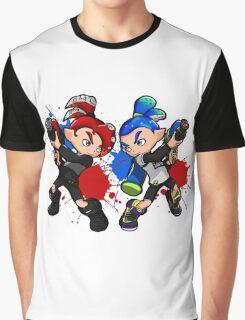 Inking Boy vs Octoling Boy Splat Graphic T-Shirt