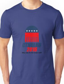 Cthulhu 2016 - why vote for the LESSER evil? Lovecraft Unisex T-Shirt