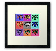 Gta 5 Pop Art Framed Print