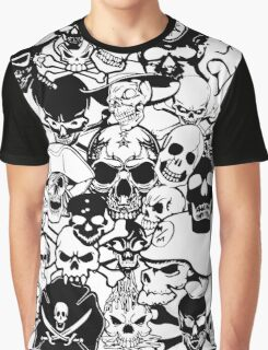 Skull Collage Graphic T-Shirt