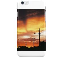 Firey Sunset Streetscape iPhone Case/Skin