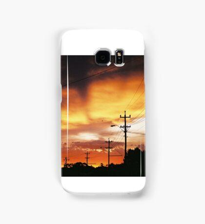 Firey Sunset Streetscape Samsung Galaxy Case/Skin