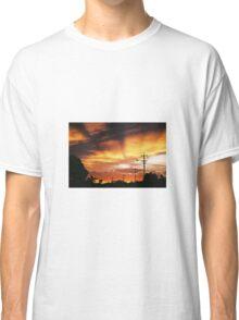 Firey Sunset Streetscape Classic T-Shirt