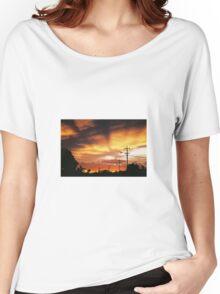 Firey Sunset Streetscape Women's Relaxed Fit T-Shirt