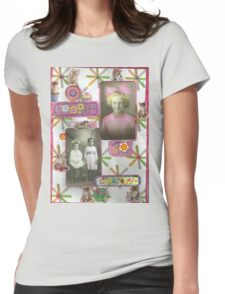 """""""What Are Little Girls Made Of"""" Womens Fitted T-Shirt"""