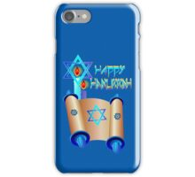 Happy Hanukkah-Torah iPhone Case/Skin