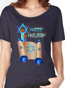 Happy Hanukkah-Torah Women's Relaxed Fit T-Shirt