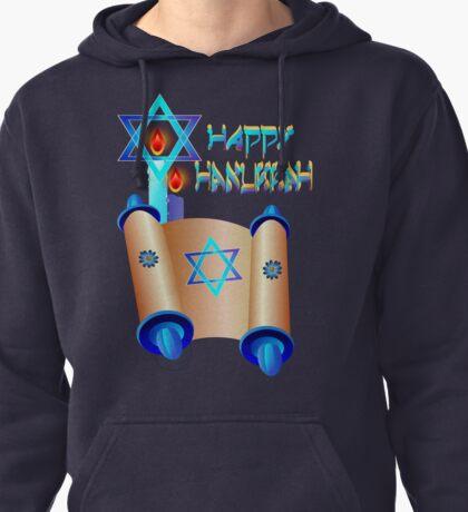 Happy Hanukkah-Torah Pullover Hoodie