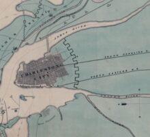 Civil War Maps 0251 Charleston Harbor and city defences Sticker