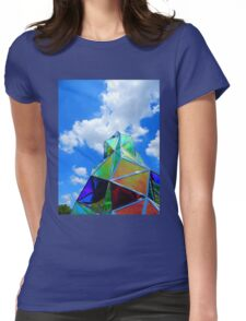 Sculpture and Sky Womens Fitted T-Shirt