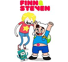 Adventure TIme Finn and Steven Universe Photographic Print